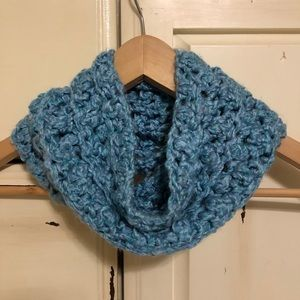Handmade Knit Toddler Blue Infinite Scarf (OS)